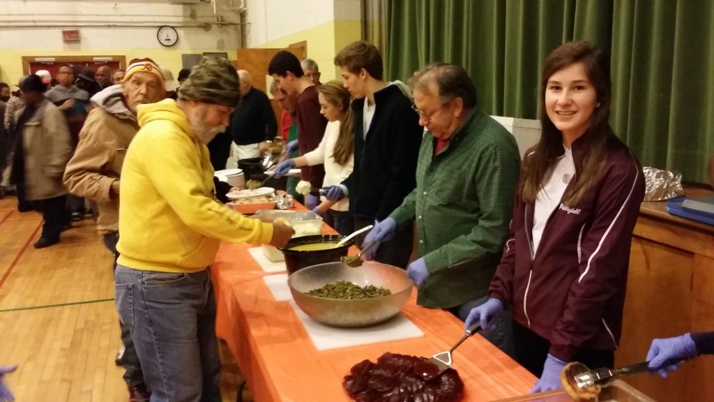 "KUPC youth regularly help serve our neighbors at the montly ""Hospitality Dinner""."